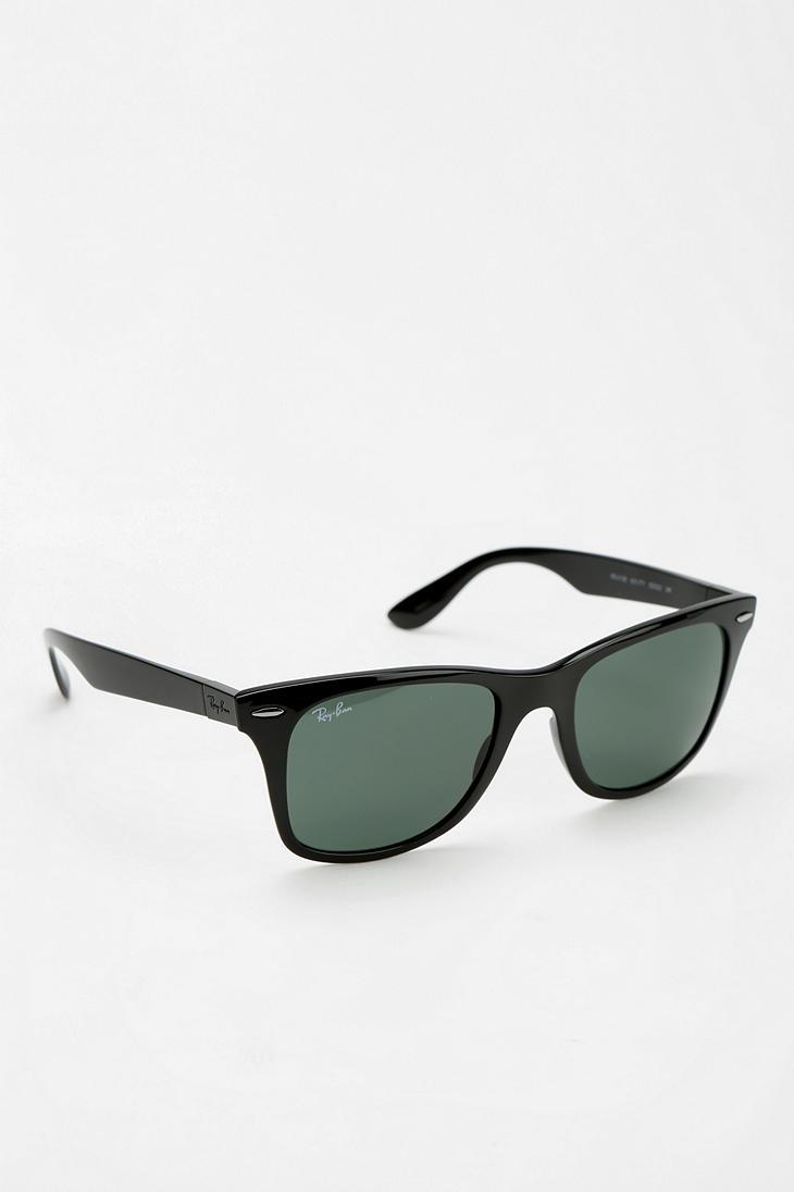 99b8dcfe1b3 Lyst - Ray-Ban Carbon Wayfarer Sunglasses in Black