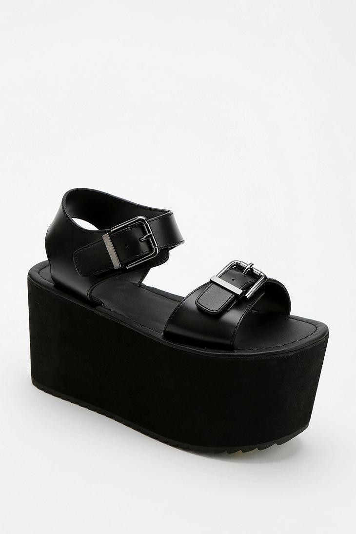 Urban Outfitters Yru Orion Mega Flatform Sandal In Black