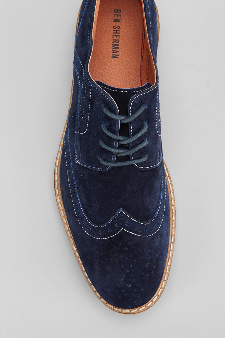 Urban Outfitters Bennett Brogue Oxford Shoe In Blue For Men | Lyst