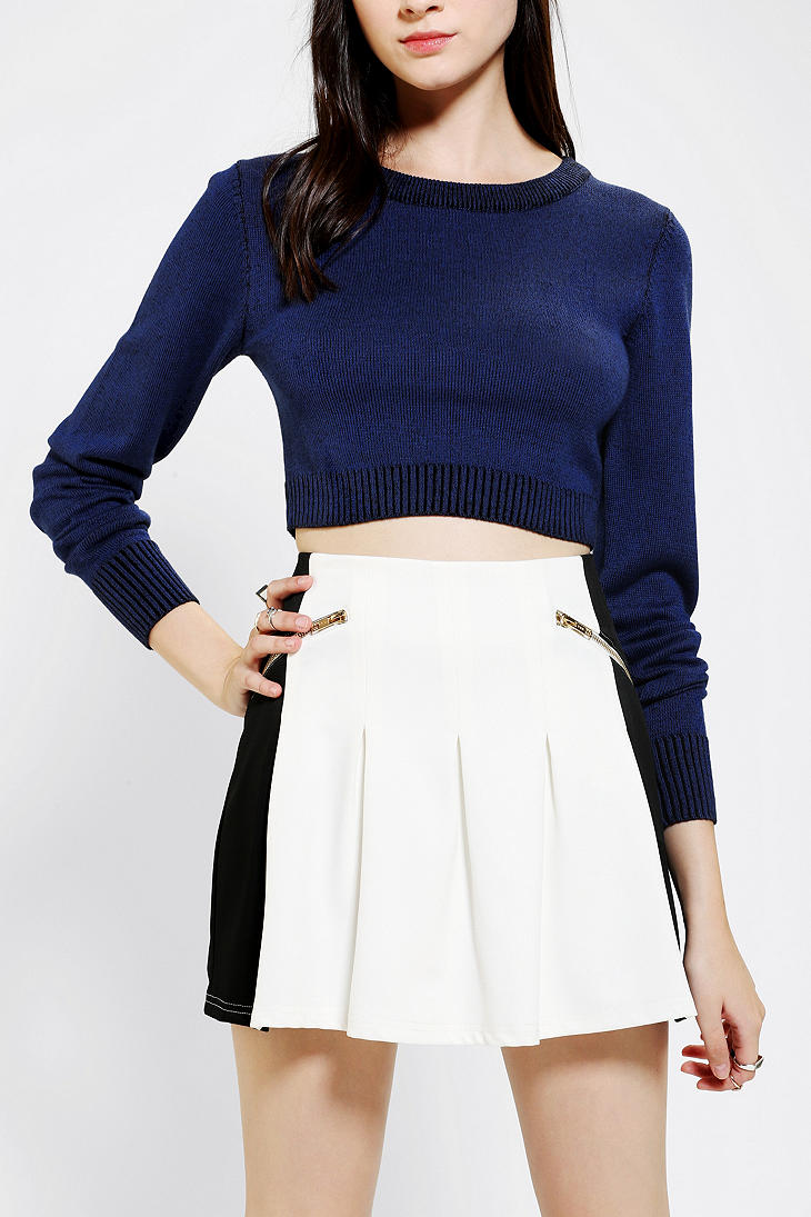 Urban outfitters Silence Noise Ribbed Cropped Pullover Sweater in ...