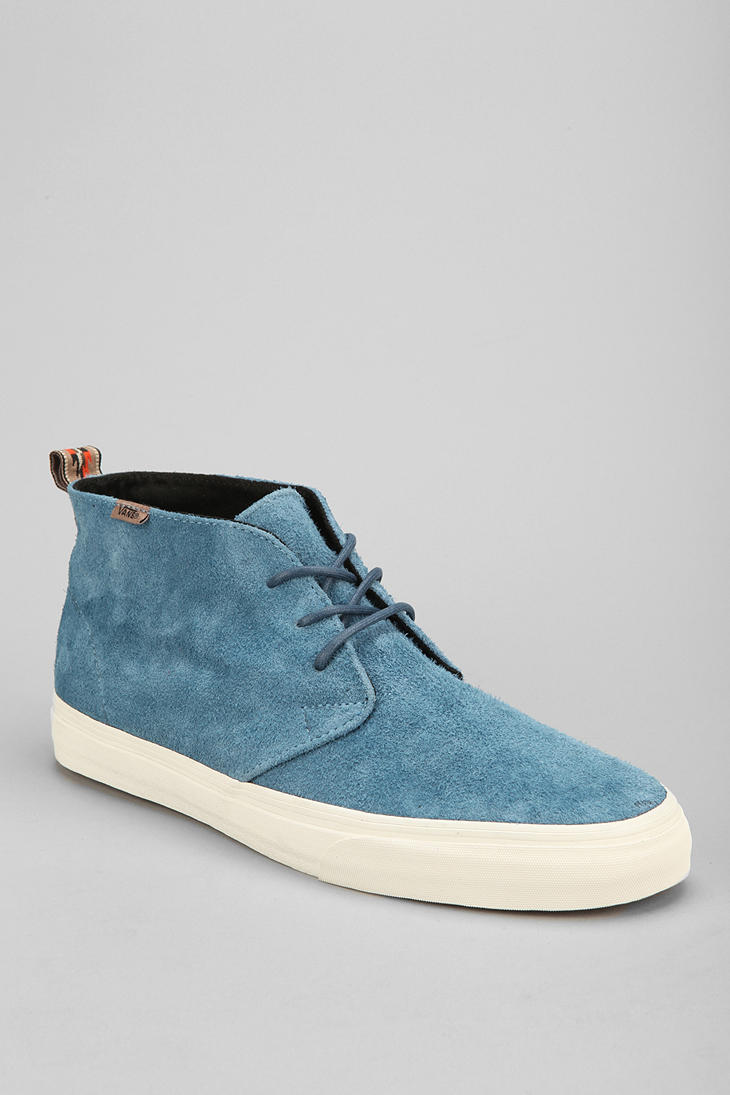 Urban Outfitters Vans California Decon Suede Mens Chukka Sneaker in Blue for Men | Lyst