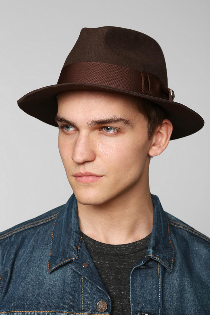 Urban Men S Casual Fashion 2015 2016: Urban Outfitters Brixton Diego Fedora In Brown For Men