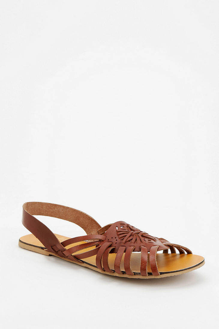Urban Outfitters Ecote Floral Medallion Sandal In Brown Lyst