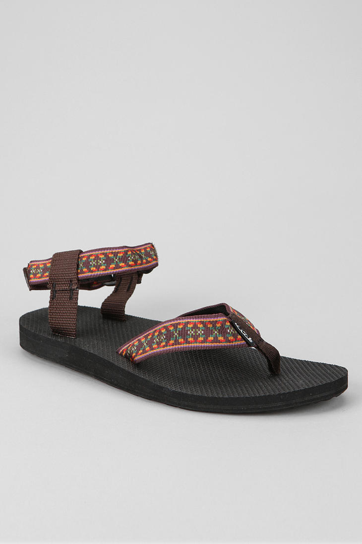 Lyst Urban Outfitters Teva Original Sandal In Brown For Men