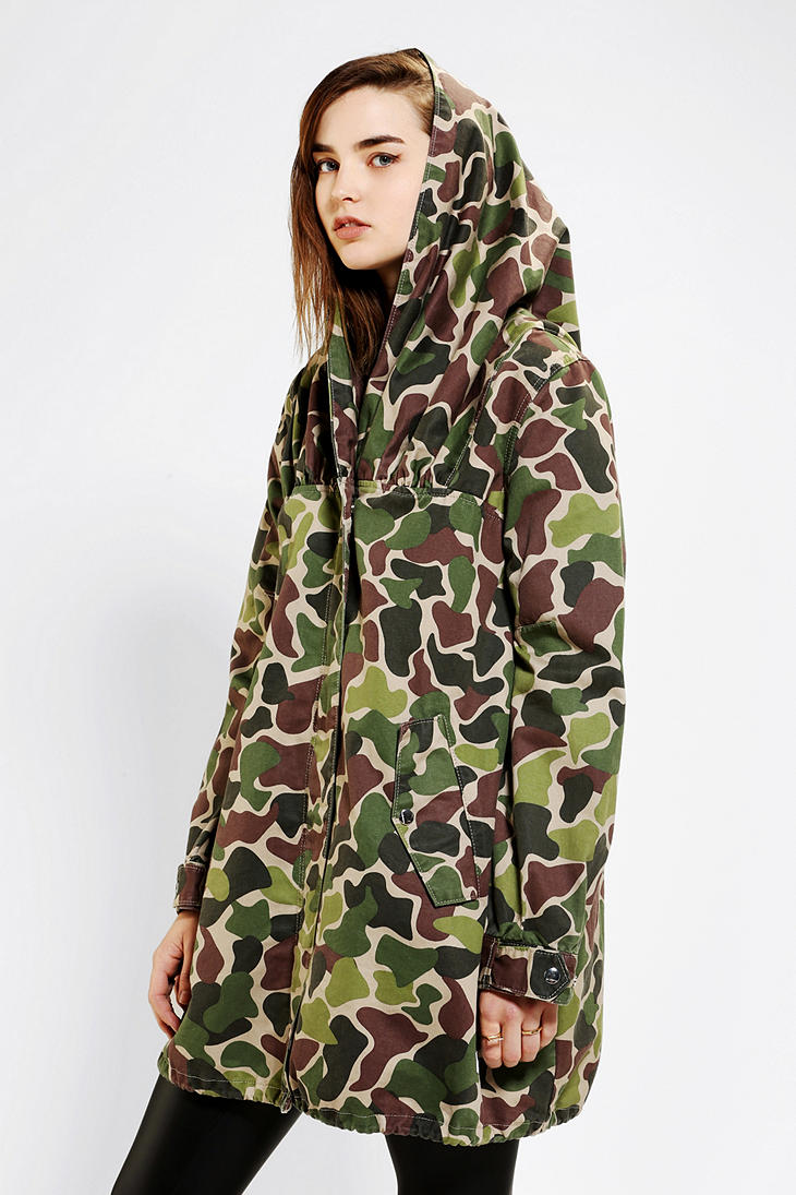 Urban Outfitters Adidas Hooded Camo Parka Lyst