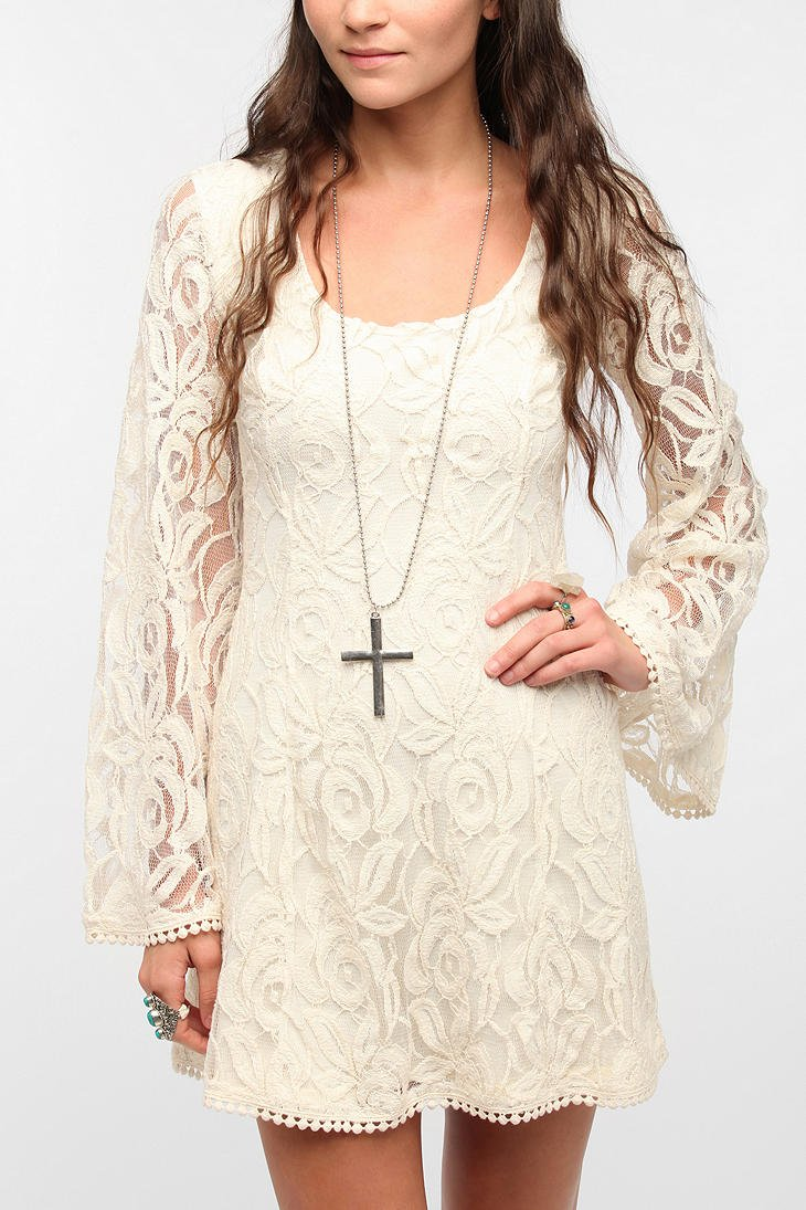 Lyst Staring At Stars Staring At Stars Lace Bell Sleeve