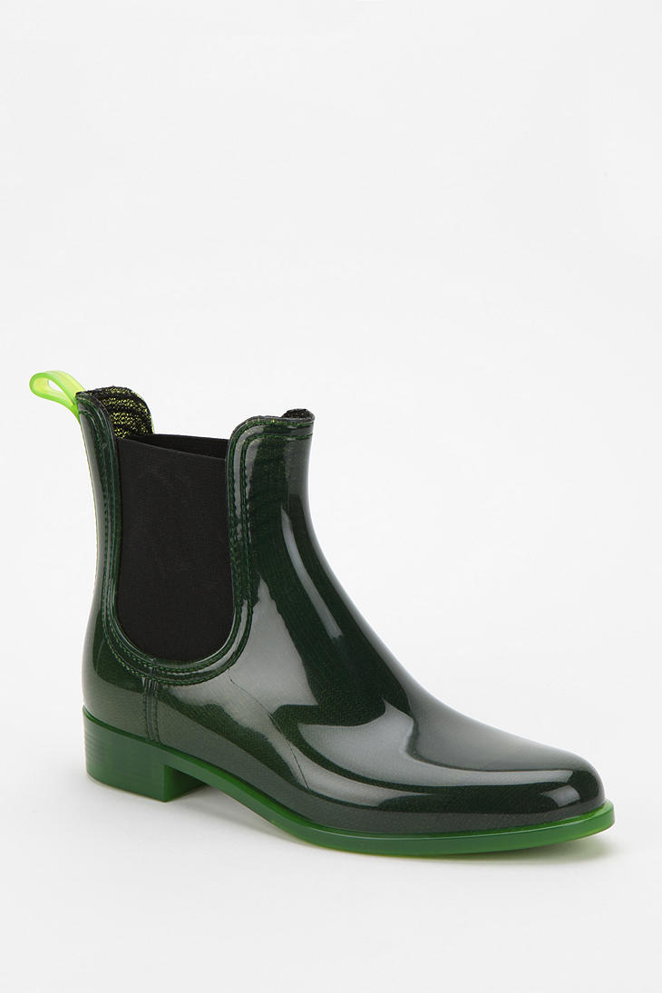 Jeffrey campbell Jeffrey Campbell Forecast Rain Boot in Green | Lyst
