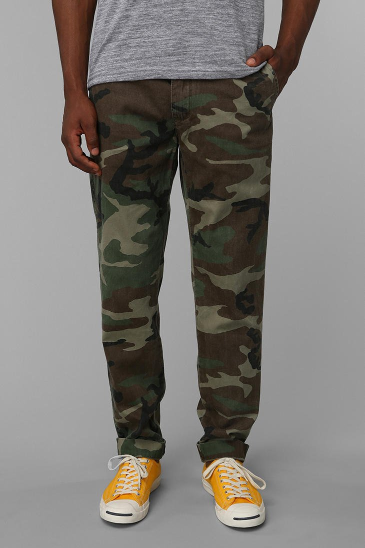Mens Camouflage Jeans