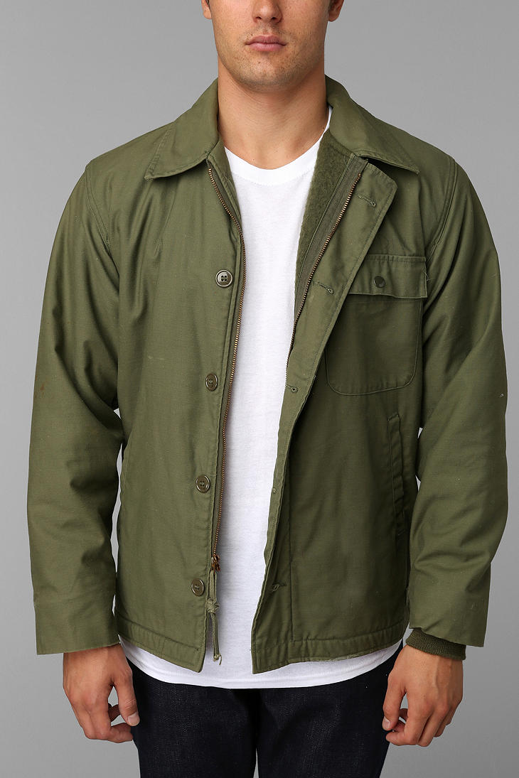 Urban Outfitters Vintage A2 Deck Jacket in Green for Men ...