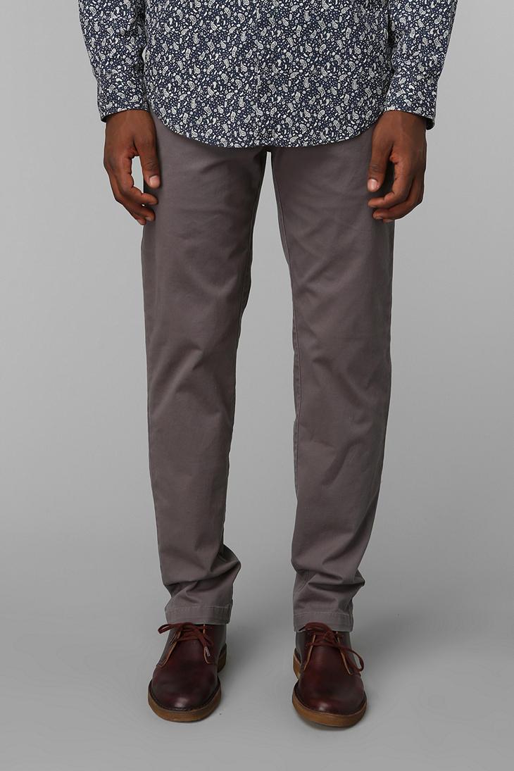 Grey Chino Pants Men