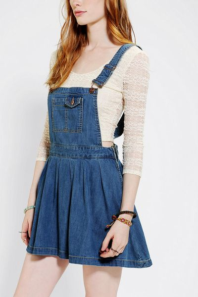 Amazing ASOS  ASOS Denim Pinafore Dress In Vintage Wash At ASOS