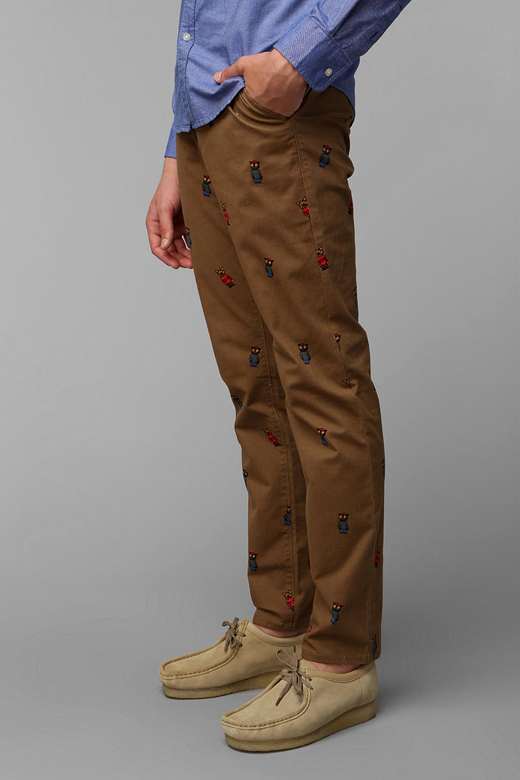 Urban Outfitters Hawkings Mcgill Printed Stretch Skinny
