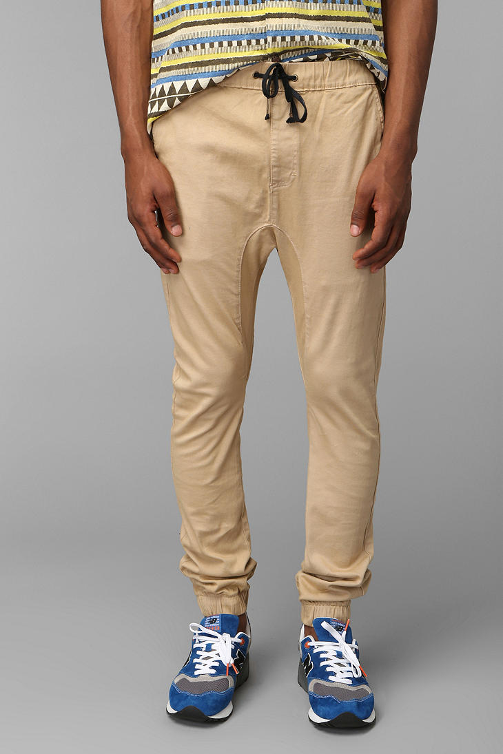 Zanerobe Sureshot Tan Chino Jogger Pant In Natural For Men
