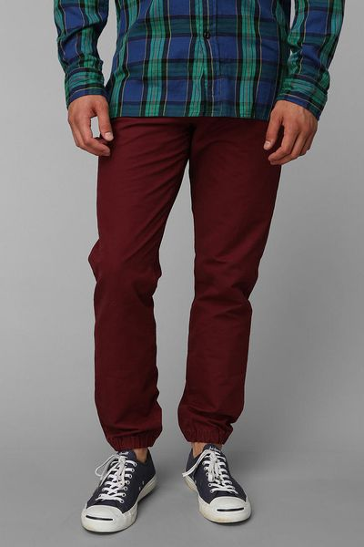 Urban Outfitters Cpo Shipmans Chino Jogger Pant In Red For