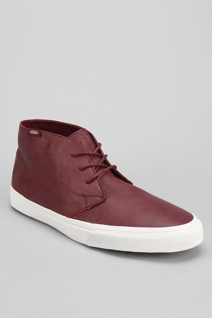 Urban Outfitters Vans Decon Leather Chukka Boot in Brown for Men (MAROON) | Lyst