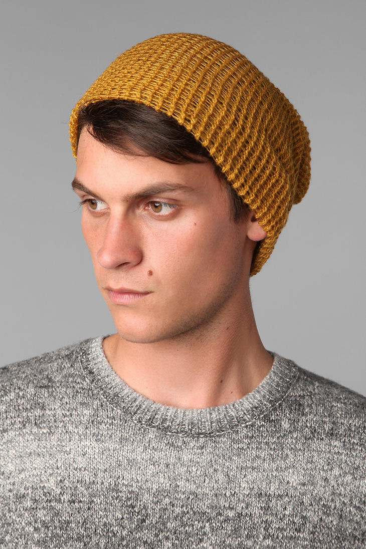 Lyst - Urban Outfitters Lightweight Beanie in Yellow for Men f40ebbe1b07