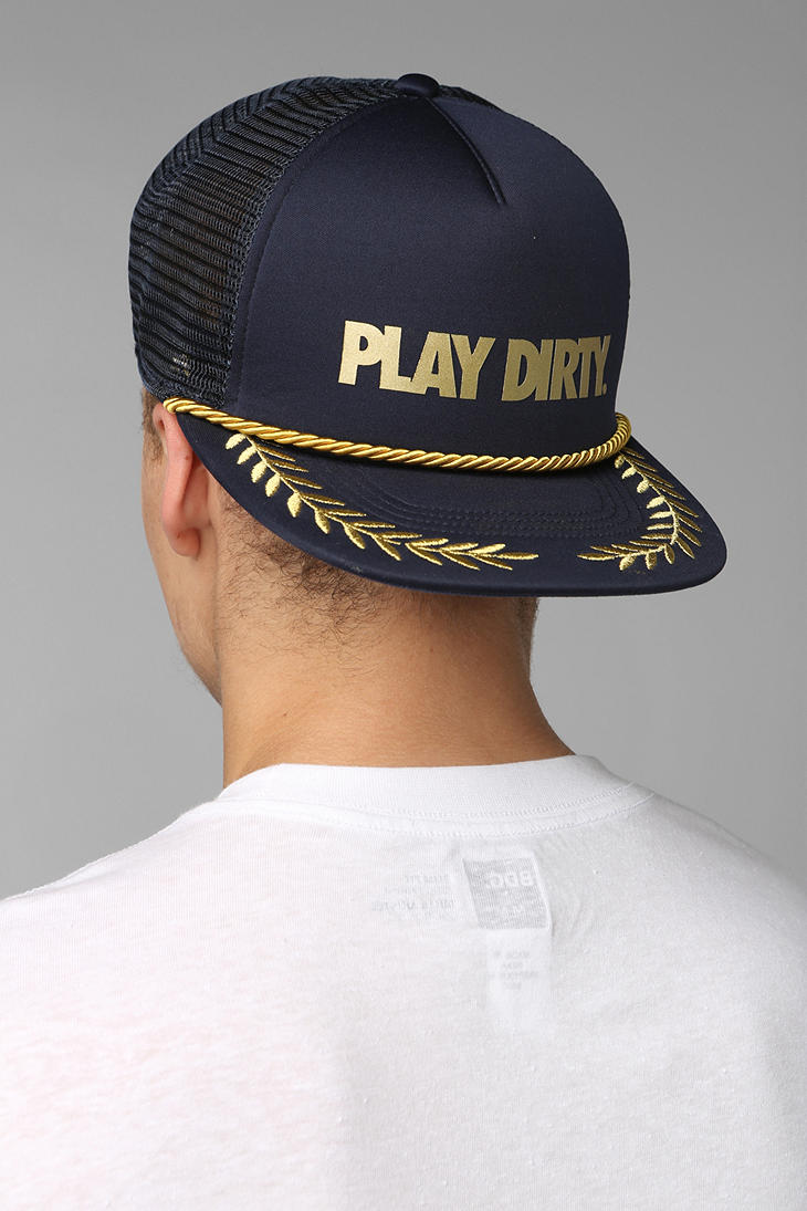 Lyst - Urban Outfitters Undefeated Play Dirty Branch Trucker Hat in ... 4a3a62de5abe