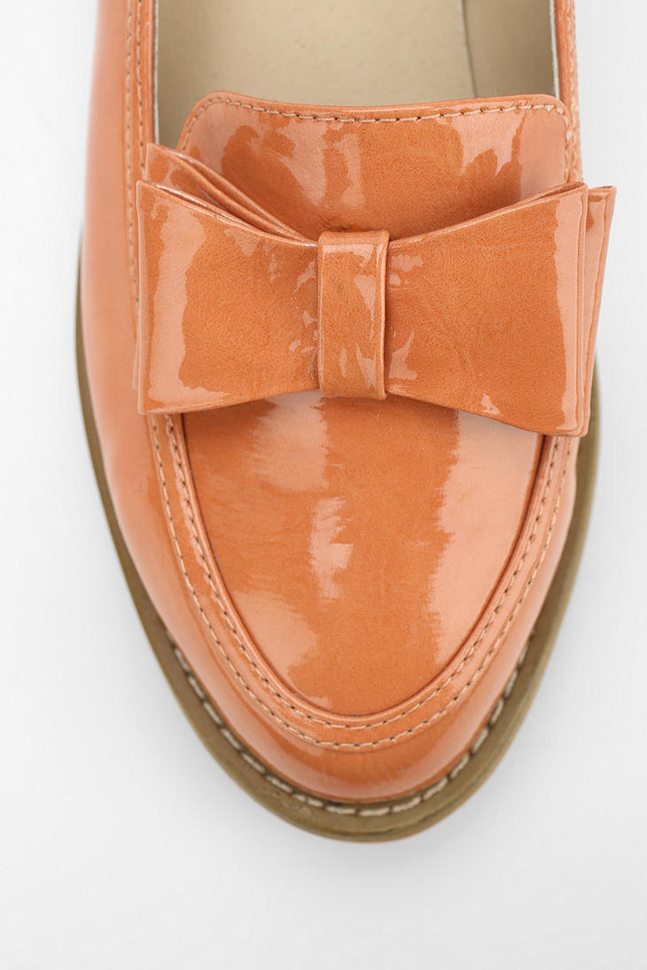 f810830ee81 Lyst - Urban Outfitters Cooperative Patent Bow Loafer in Orange