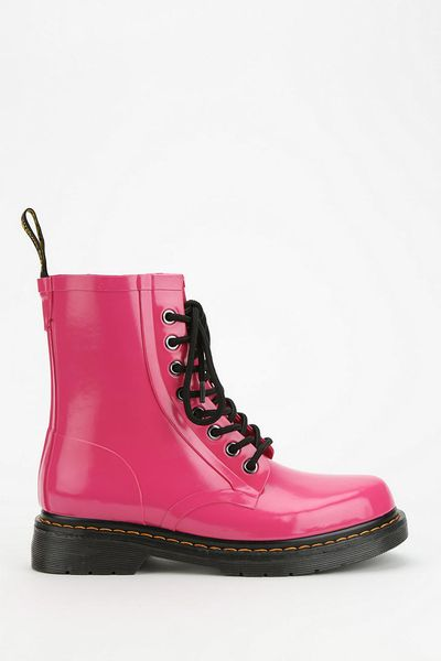 Urban Outfitters Drench Glossy 8eye Rain Boot In Pink Lyst