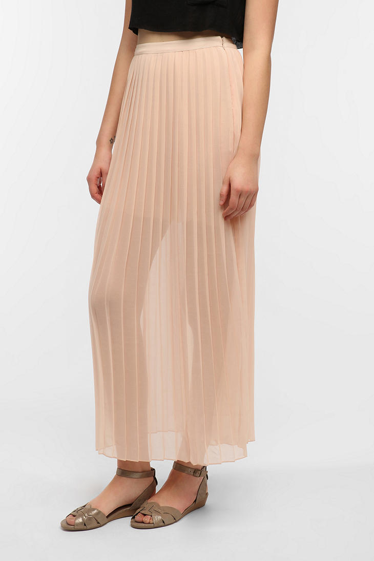Lyst Urban Outfitters Sparkle Fade Pleated Chiffon Maxi