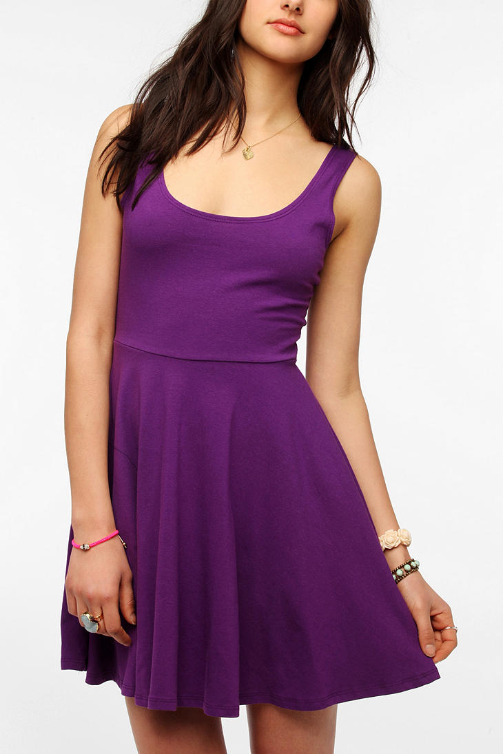Lyst Urban Outfitters Sparkle Fade Knit Skater Dress In
