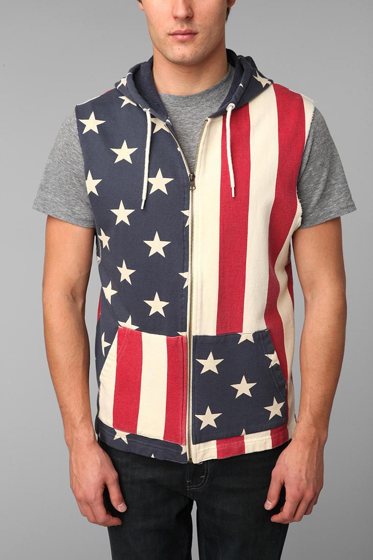 Sleeveless zip up hoodie men