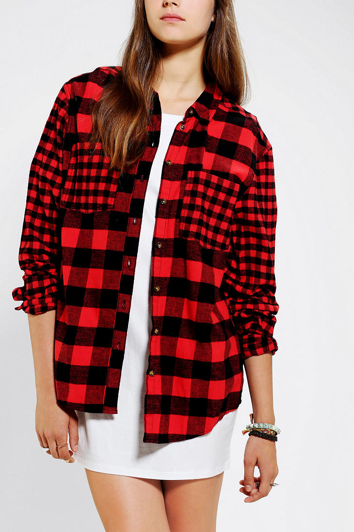 Urban outfitters bdg frankie boyfriend flannel shirt in for Super soft flannel shirts