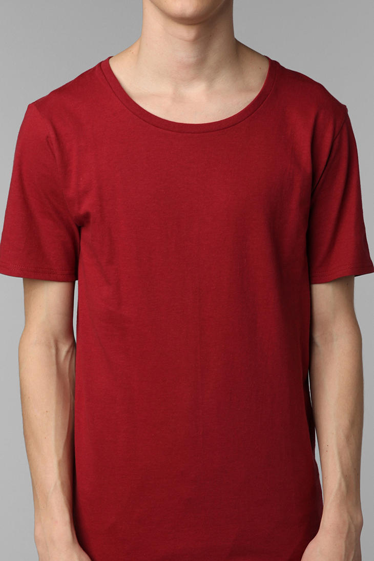 Bdg Cotton Wide Neck Slim Fit Tee In Red For Men Lyst