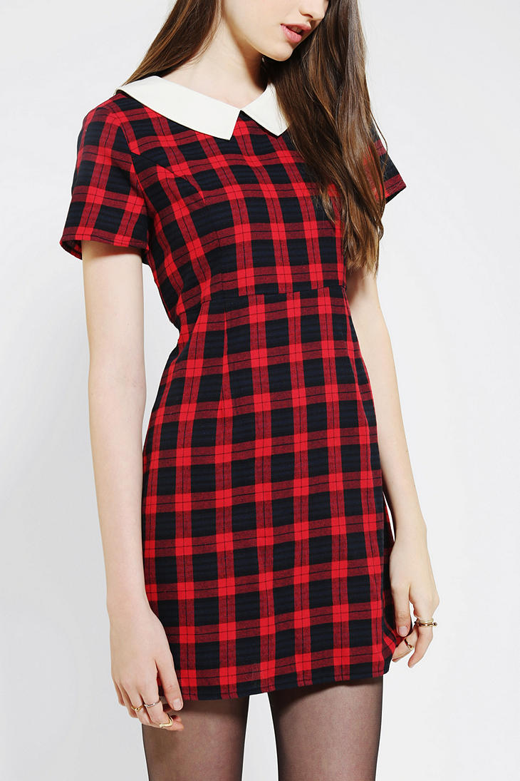 Urban Outfitters Coincidence Chance Collared Plaid