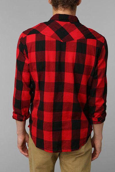 Mens red buffalo plaid shirt images for Buffalo plaid men s shirt