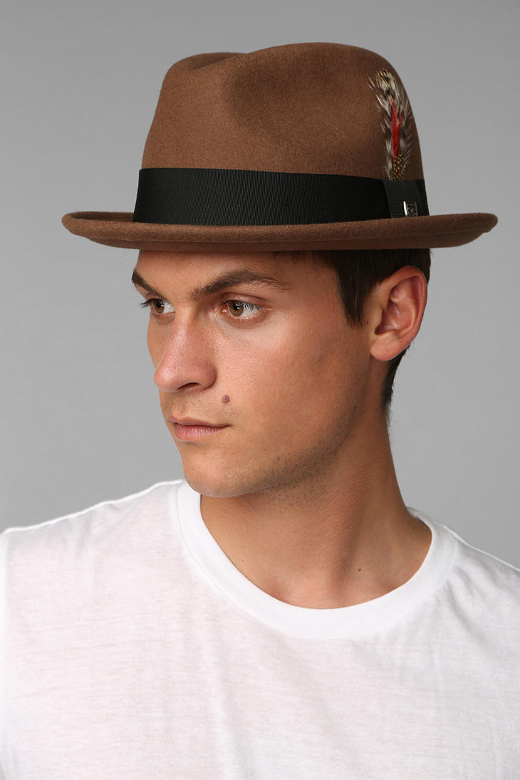 e53dd8aa73e12 Urban Outfitters Brixton Jones Felt Fedora in Brown for Men - Lyst