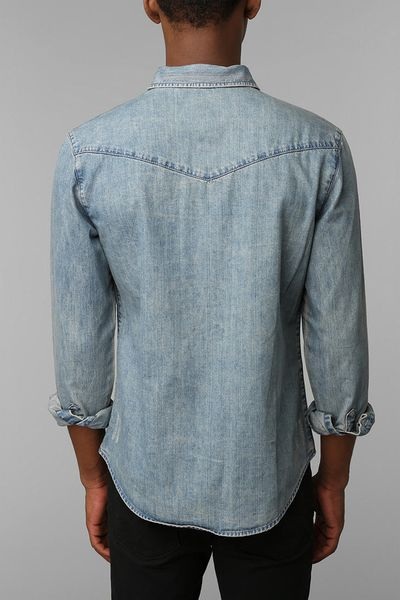 Urban Outfitters Salt Valley Denim Western Shirt In Blue