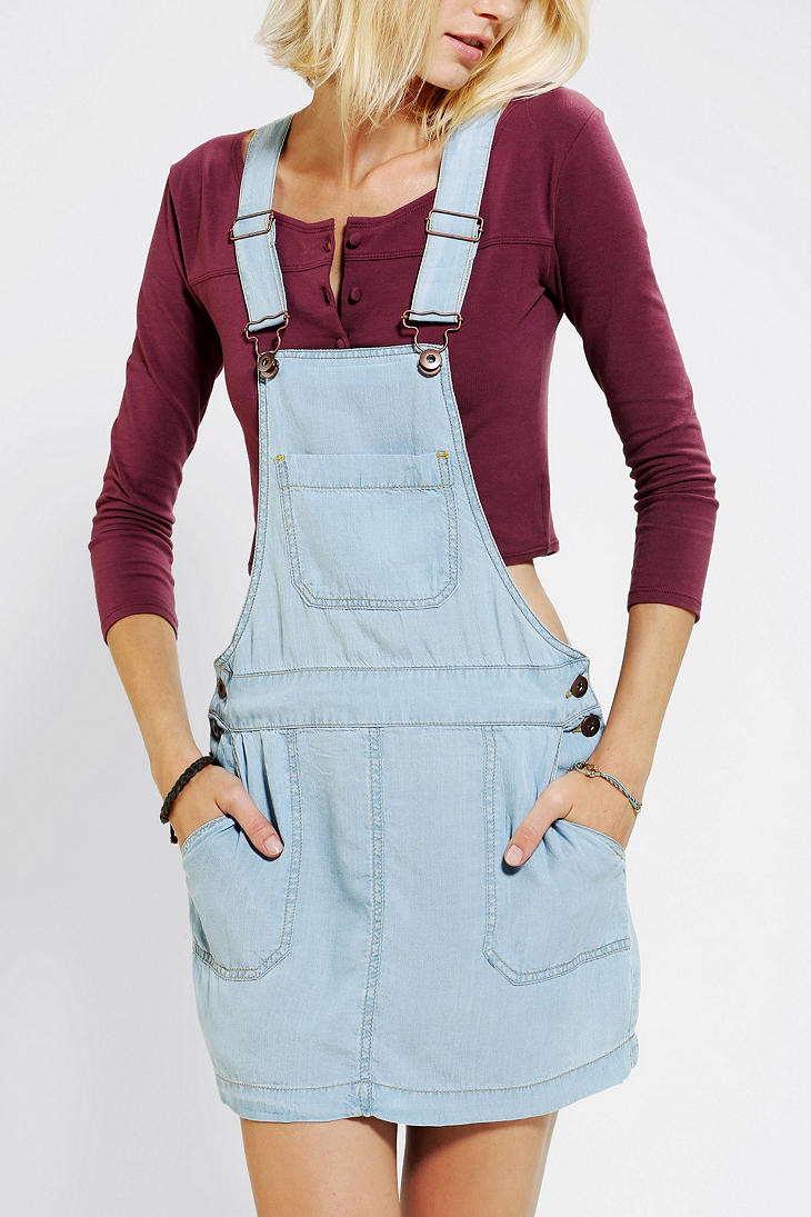 Urban Outfitters Coincidence Chance Chambray Overall Skirt
