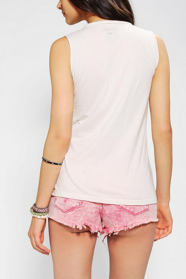 Lyst urban outfitters corner shop lincoln cat muscle tee for Lucky cat shirt urban outfitters