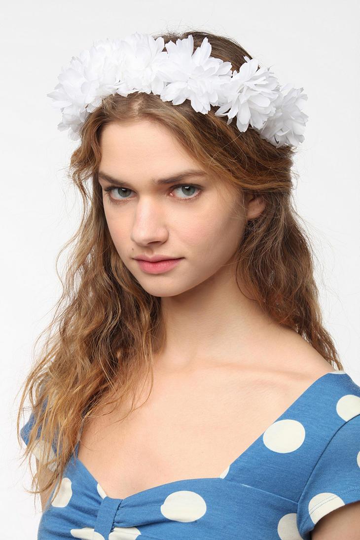 Lyst urban outfitters cult gaia fiesta flower crown headwrap in white gallery izmirmasajfo