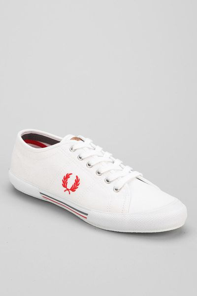 outfitters fred perry classic canvas tennis shoe in