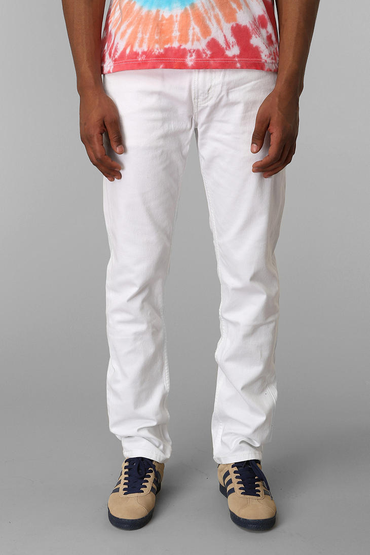 White skinny jeans mens levi