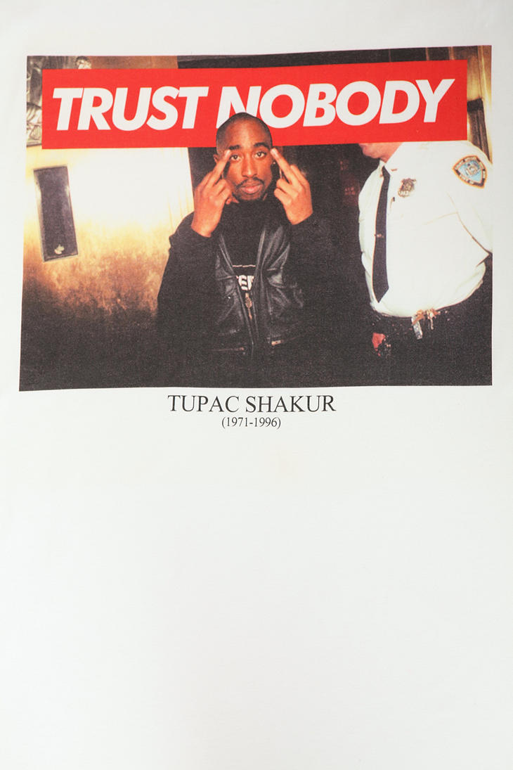 Urban Outfitters Tupac Trust Nobody Tee In White For Men