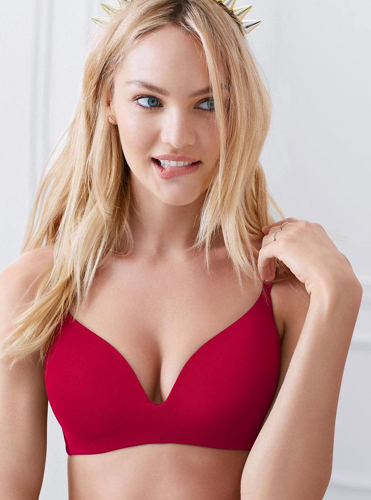 Victoria's Secret Wireless Bra in Red (bright cherry)