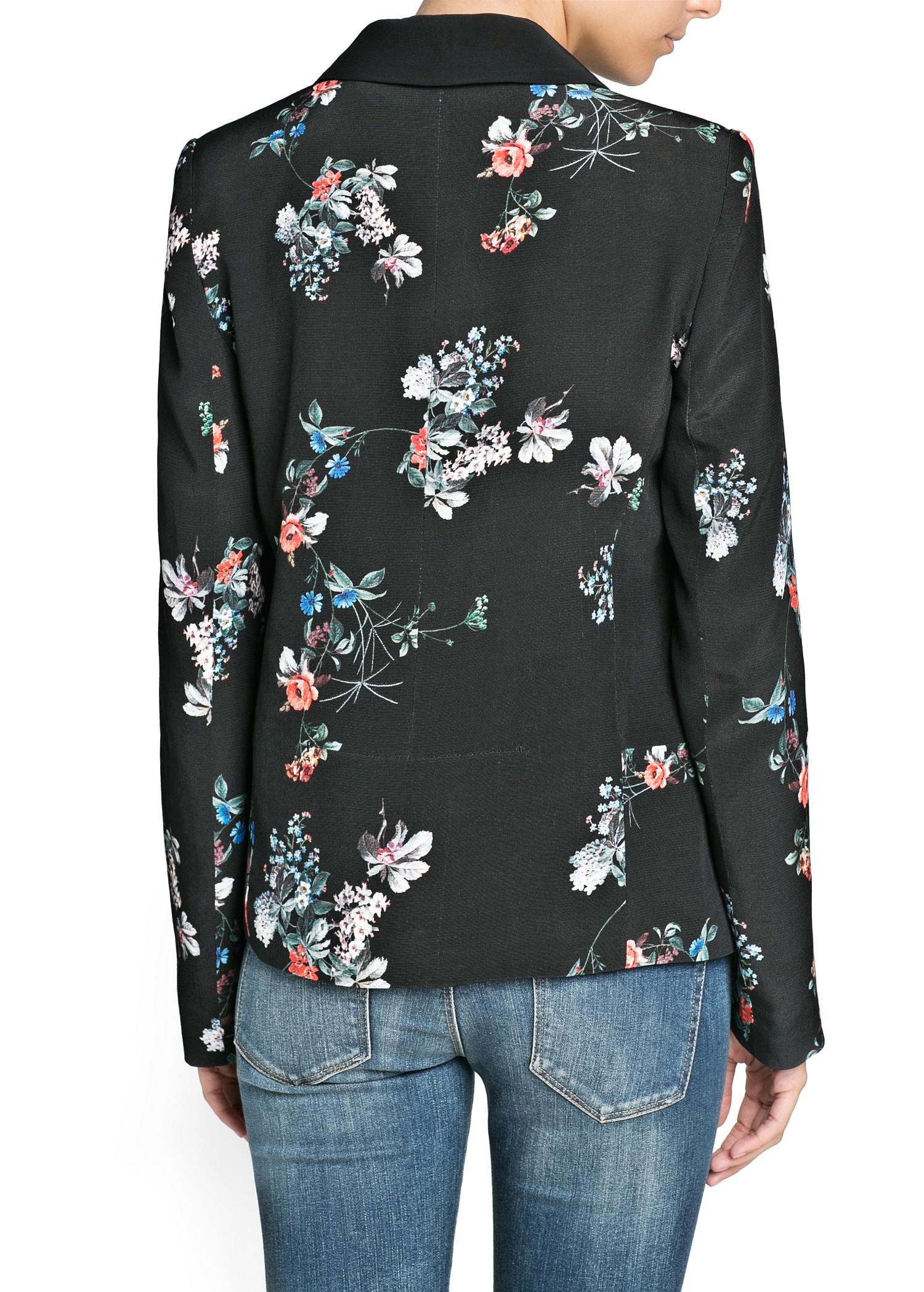 Lyst Mango Floral Print Blazer