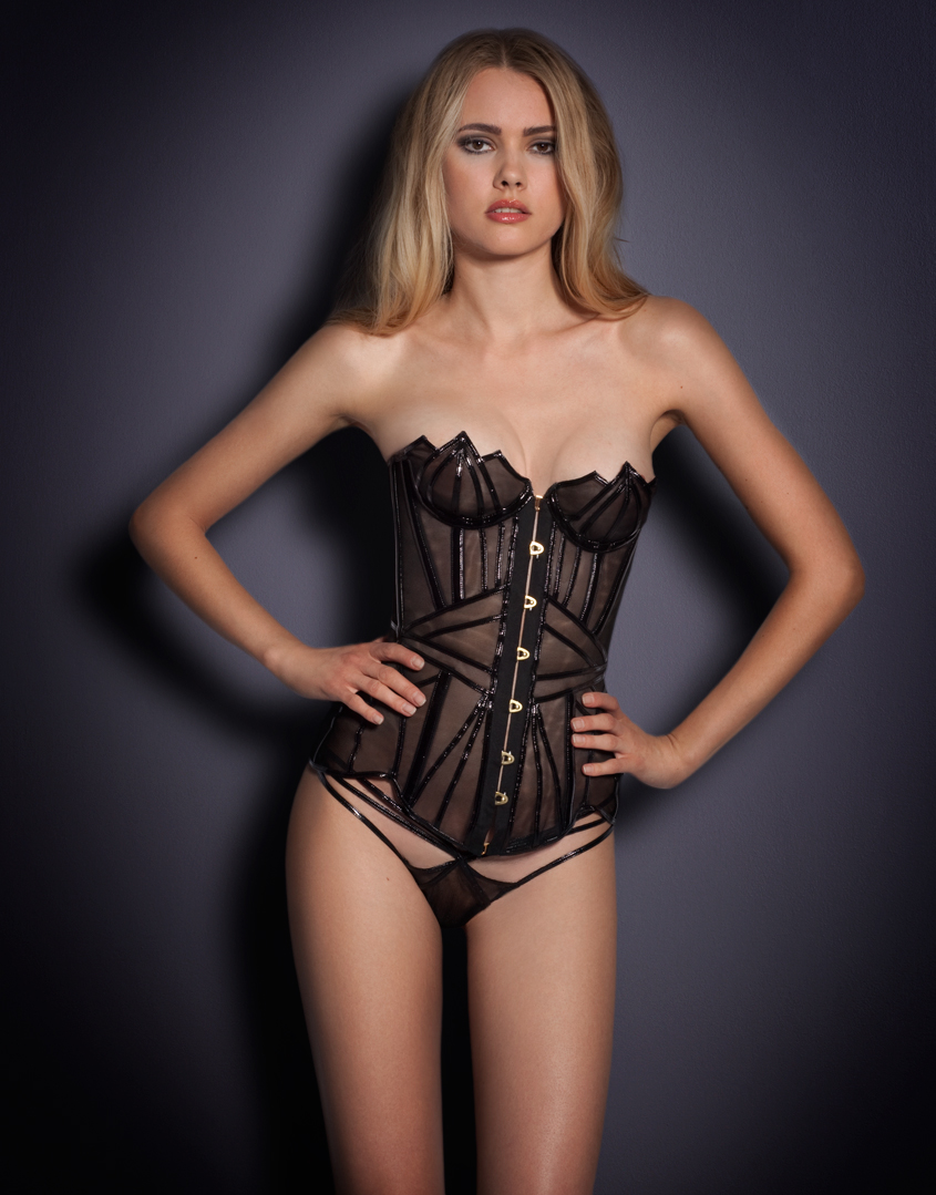 lyst agent provocateur jet corset in black. Black Bedroom Furniture Sets. Home Design Ideas