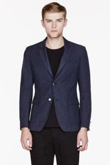 Band Of Outsiders Blue Wool Two_button Blazer - Lyst