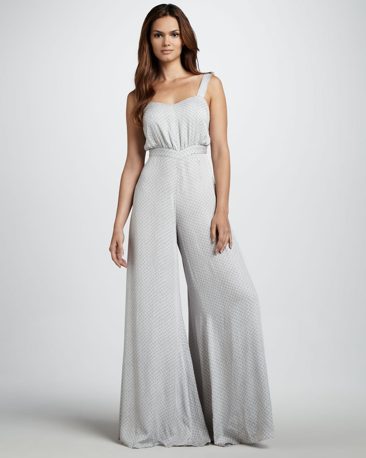 Camilla & Marc Wideleg Jumpsuit In Gray