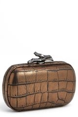 Diane Von Furstenberg Lytton Embossed Metallic Leather Clutch - Lyst
