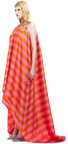 Emilia Wickstead Mariee Sleeveless Dress In Orange Orange