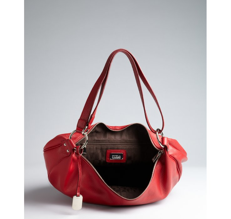 Furla Red Leather Handbag | Luggage And Suitcases