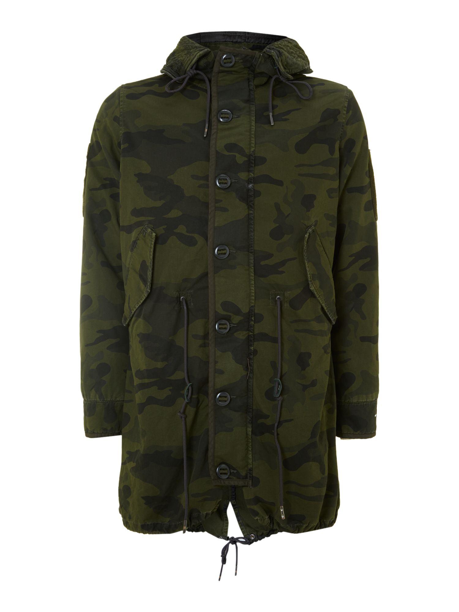 g star raw polar rain fishtail parka in green for men lyst. Black Bedroom Furniture Sets. Home Design Ideas