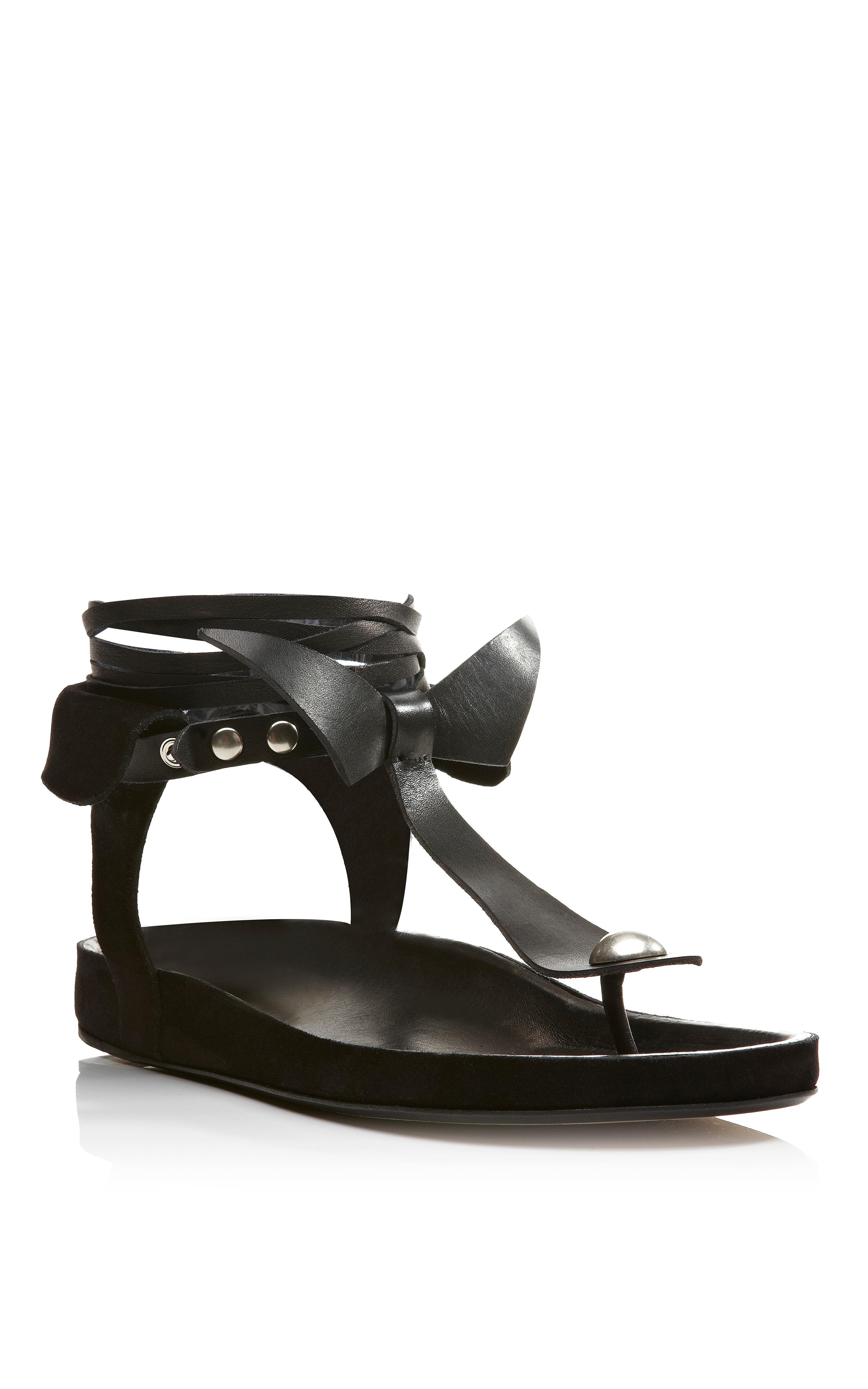 6cf309d8233f Lyst - Isabel Marant Elva Bow Tie Sandal in Black