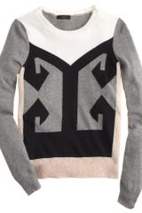 J.Crew Colorblock Intarsia Sweater - Lyst