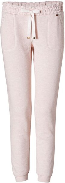 Juicy Couture French Terry Pants in Heather Pink in Pink